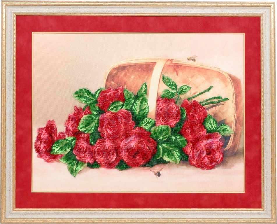 Б-0005 Розы в корзине