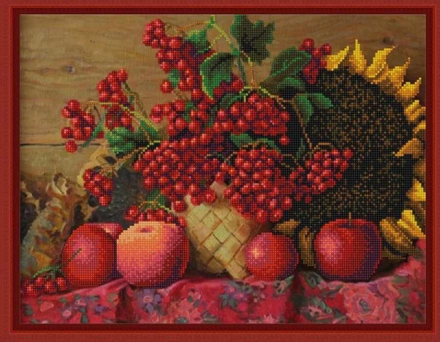 НИК 9831 Калина красная - схема для вышивания (Конёк)