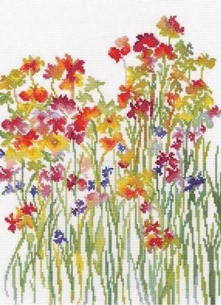 М581 Акварель цветов