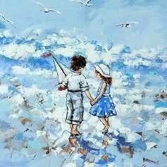 O-550 Мальчик и девочка - мозаика Милато