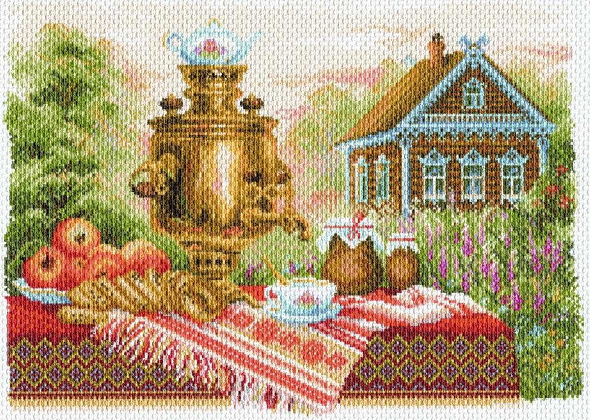 1710 Натюрморт деревенский - рисунок на канве (МП)