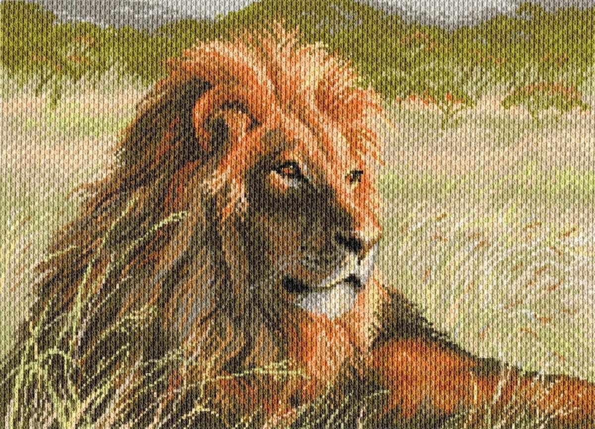 1709 Царь Саванны - рисунок на канве (МП)