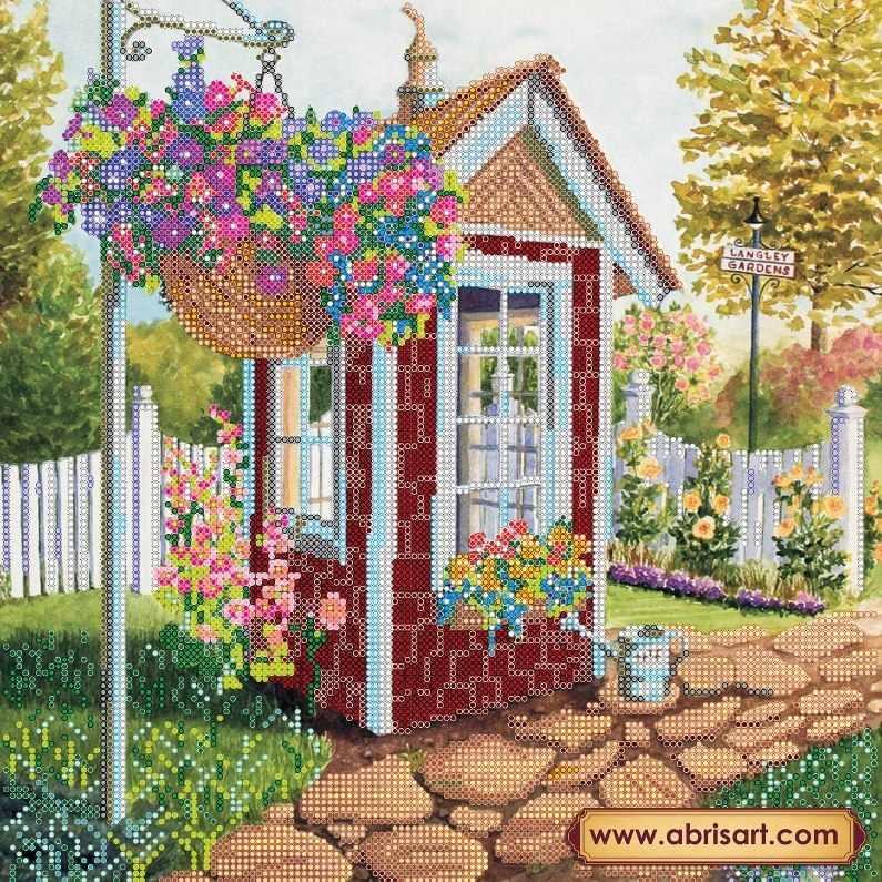 """АС-255 """"Уютный садик"""" - схема для вышивания (Абрис Арт)"""