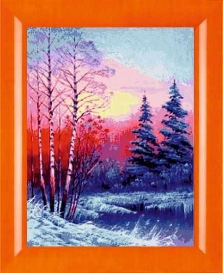 N-297  Закат в зимнем лесу