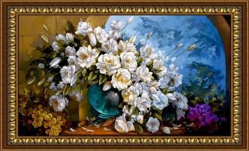 Y-013  Цветы в окне