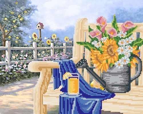 РКП-448 Дачная скамейка - схема для вышивания (Марiчка)