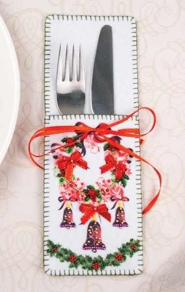 8283 Новогодний веночек - набор для вышивания