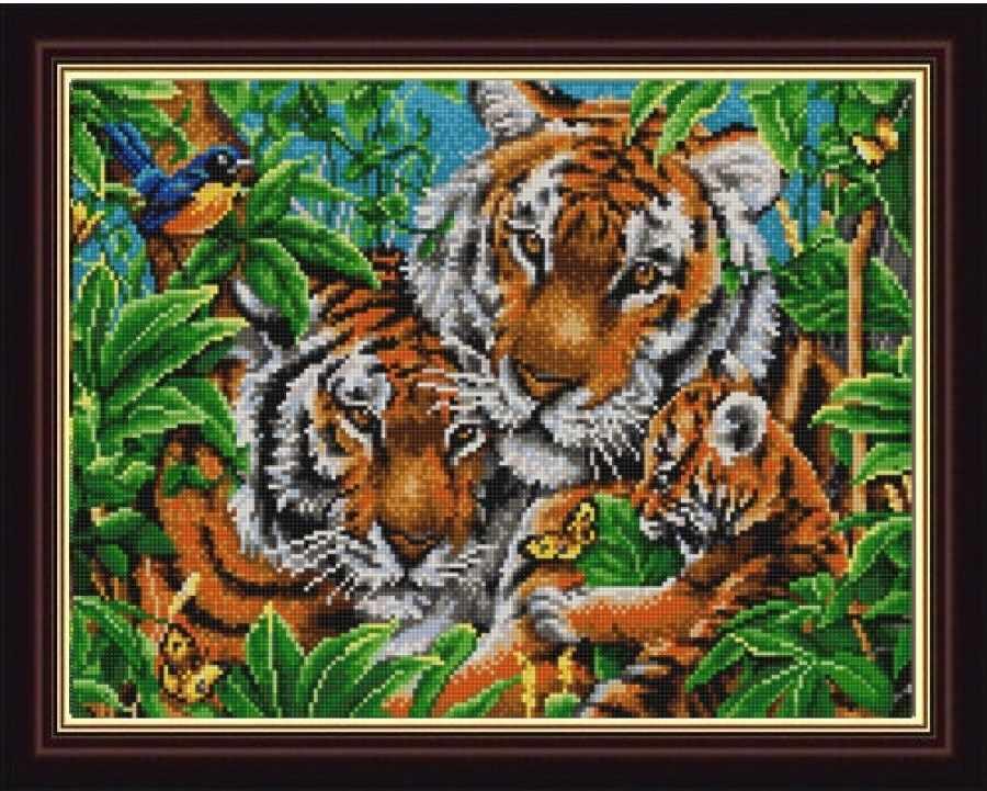 НИК 9836 Тигры - схема для вышивания (Конёк)