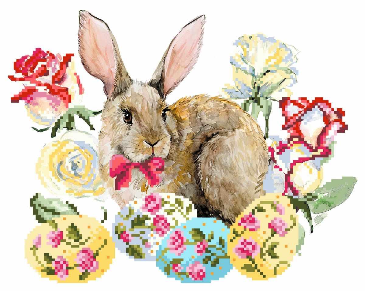 4157 Пасхальный кролик - схема для вышивания (Матрёнин посад)