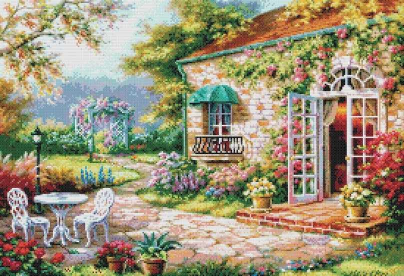 4029-14 Цветущий сад