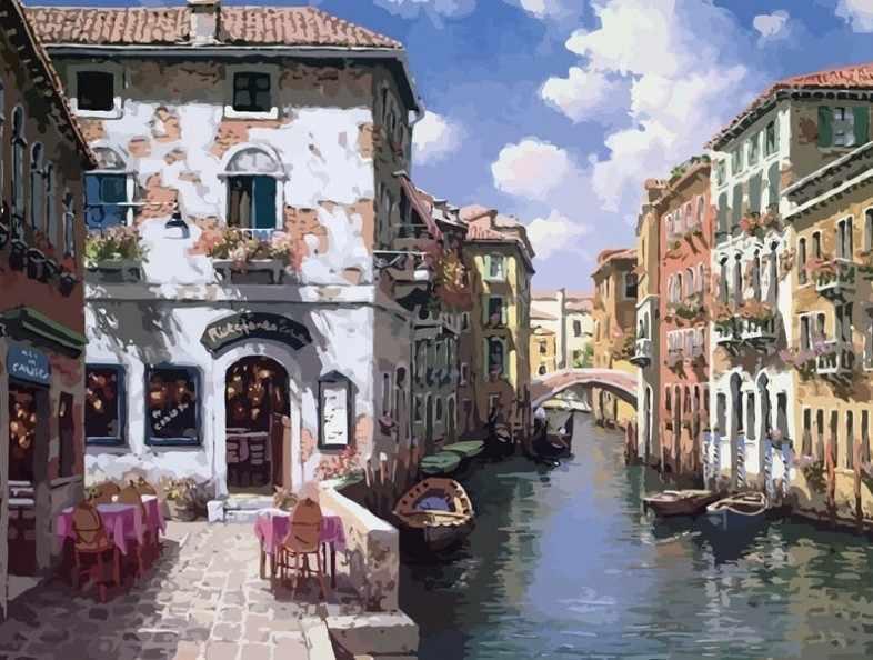 631-AB Венецианские дома (Белоснежка)