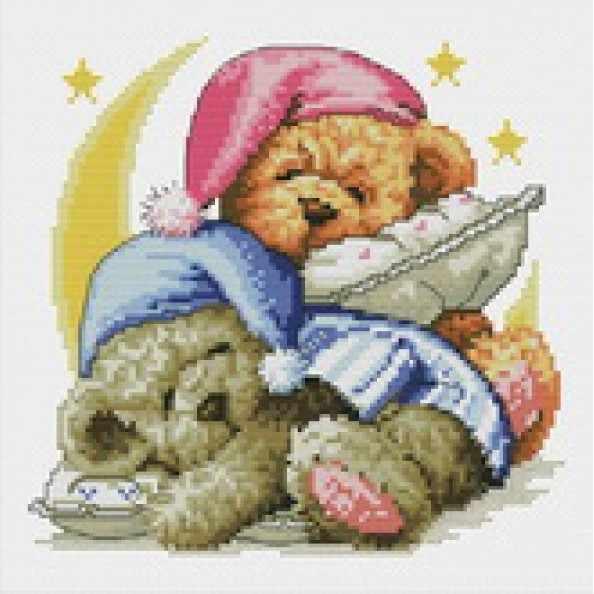7545-PK Два медвежонка