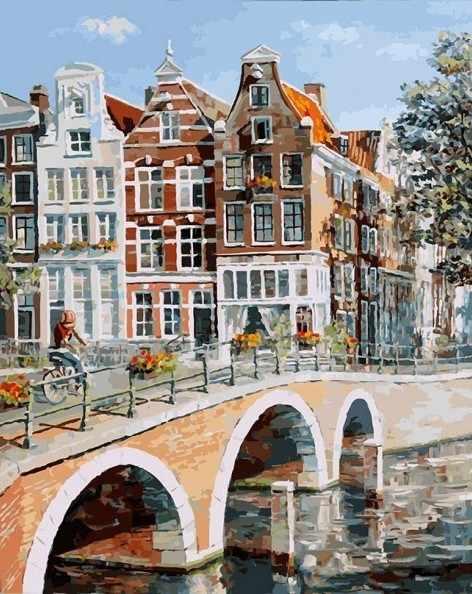 117-AB Императорский канал в Амстердаме (Белоснежка)