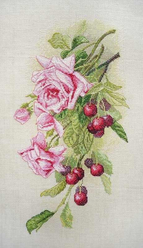 06.002.44 Розы и вишня