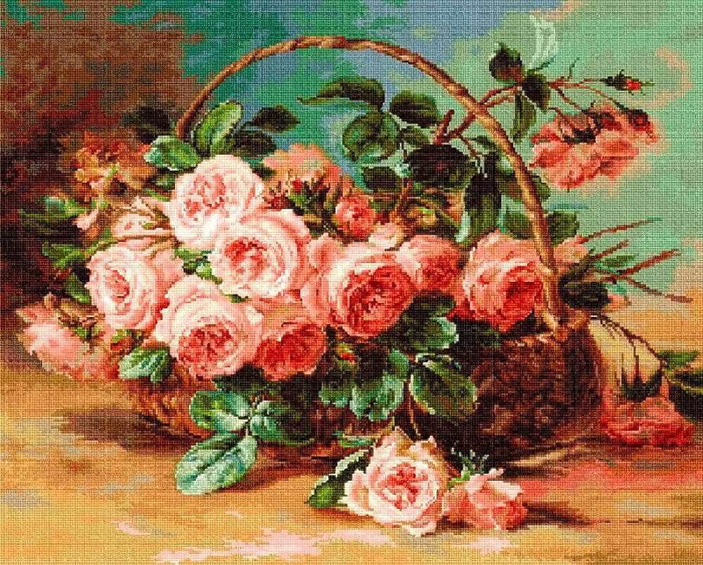 G547 Розы в корзине