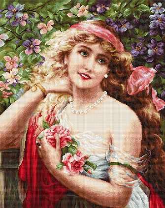 G549 Девушка с розами