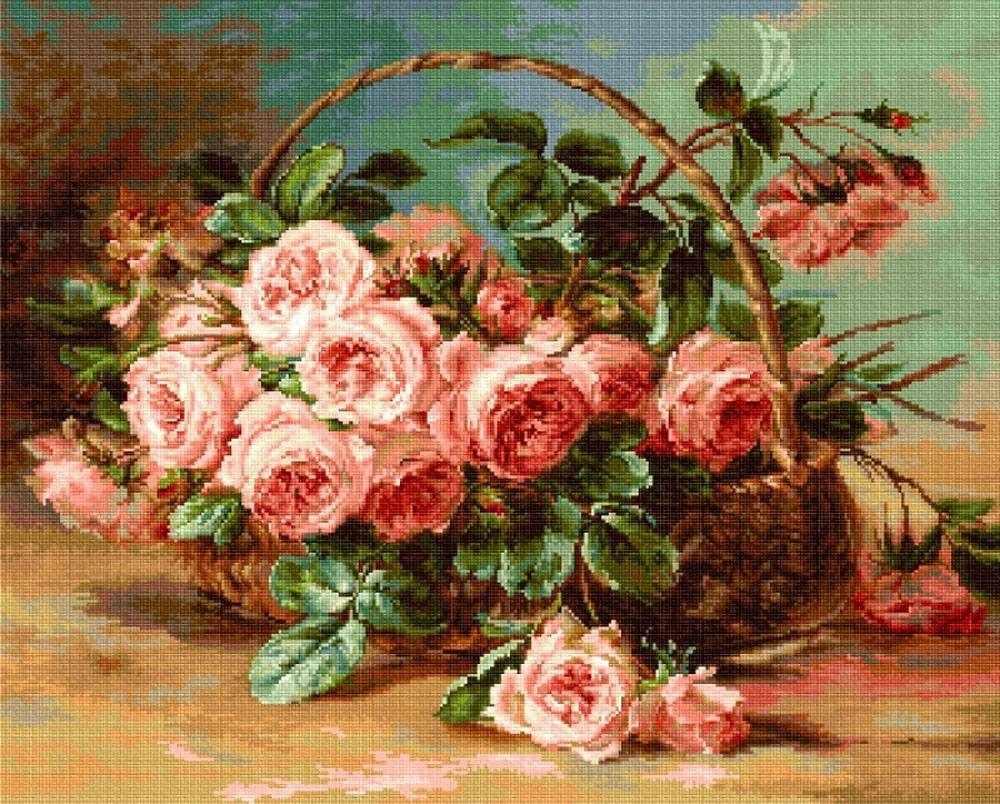 B547 Корзина с розами