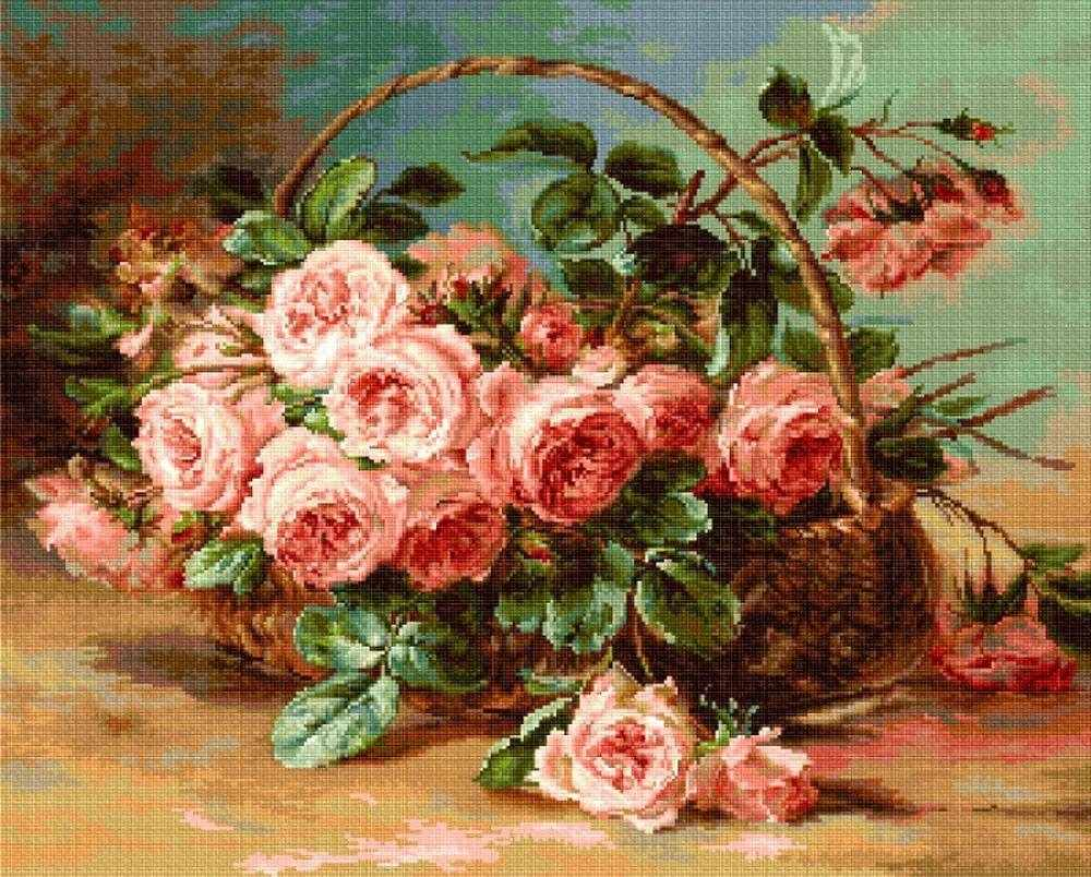 B547 Корзина с розами (Luca-S)