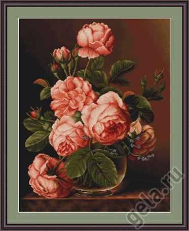 G488 Ваза с розами