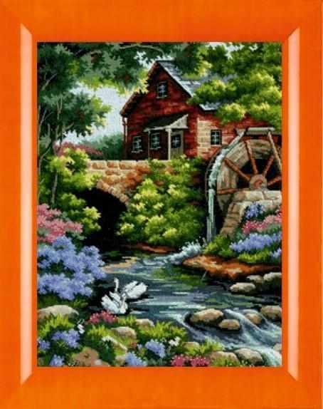 015 Лебеди у водянной мельницы