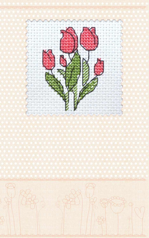 АОН-006 Набор-открытка «Тюльпаны»