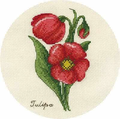 """C-1809 """"Букетик тюльпанов"""""""