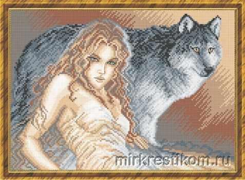 456 Девушка с волком