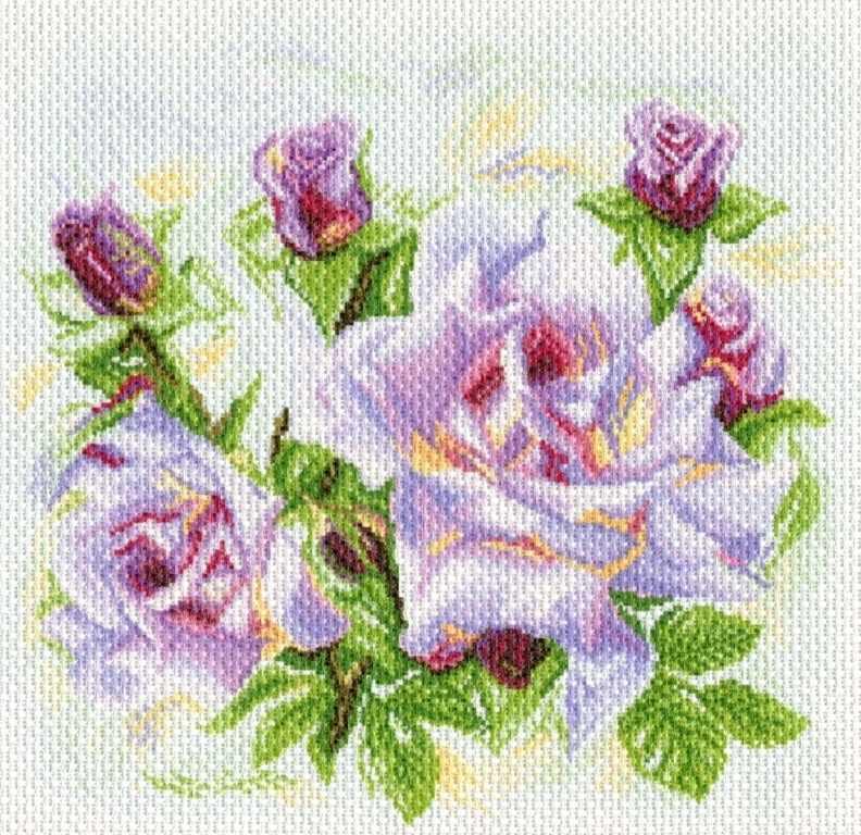 1742 Розы - рисунок на канве (МП)