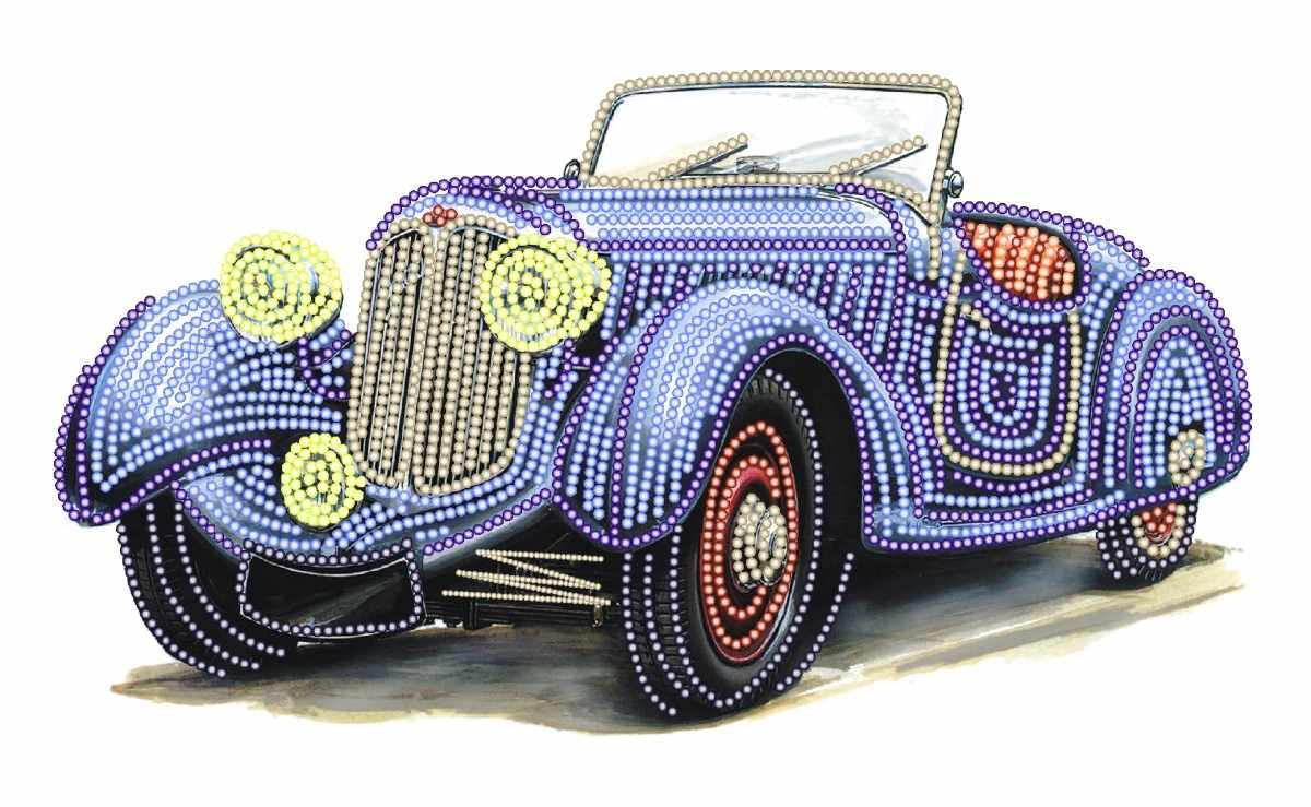 4170 Ретро авто - схема для вышивания (Матрёнин посад)