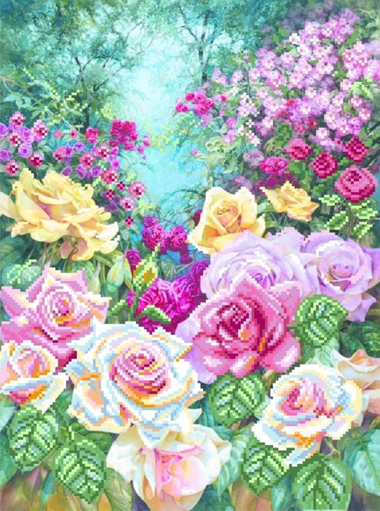 4180 Розовая серенада - схема для вышивания (Матрёнин посад)