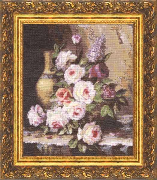 ГН-003 Мраморные розы. Староголландский натюрморт