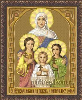 ББ-317 Св. мученицы Вера, Надежда, Любовь и мать их София - схема для вышивания (Искусница)