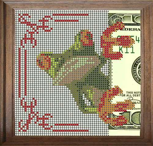 В108 Зеленый гость - схема для вышивания (FeDi)
