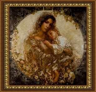 O-589 Спящий ребенок - мозаика Милато