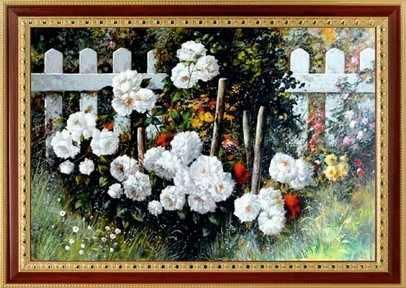 097 Цветы у забора