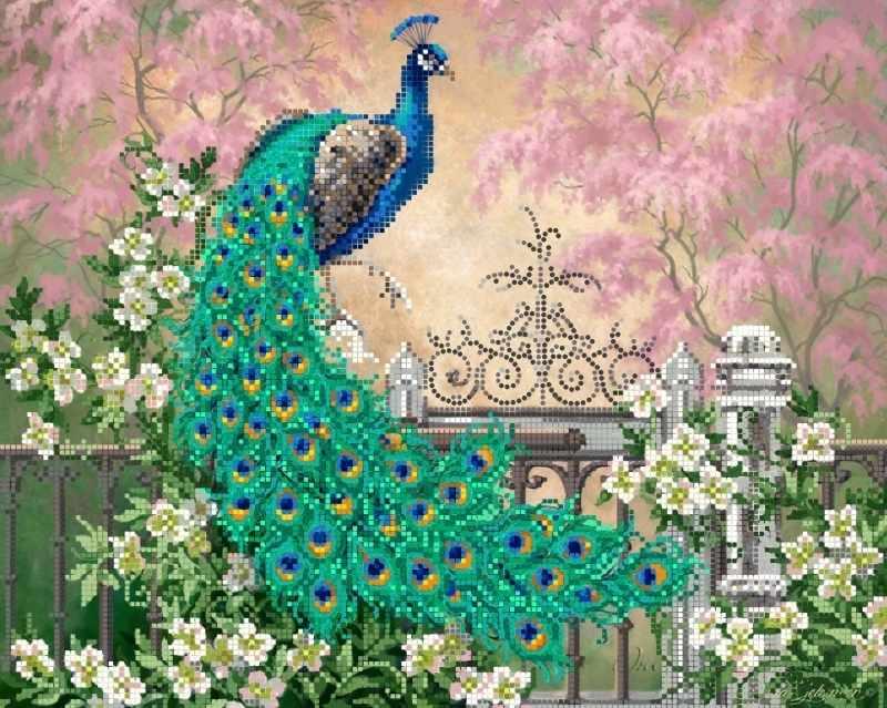 """S-212 """"Райский сад"""" - рисунок на ткани"""