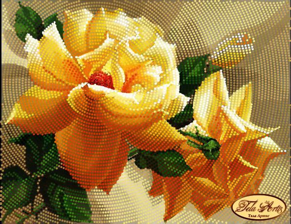 ТМ-094 - Роза флорибунда - схема для вышивания (Tela Artis)