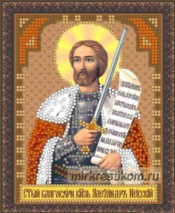 ББ-093 Св. Александр Невский - схема для вышивания (Искусница)