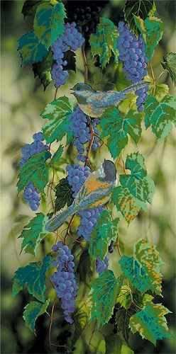 53100 Птицы на синем винограде