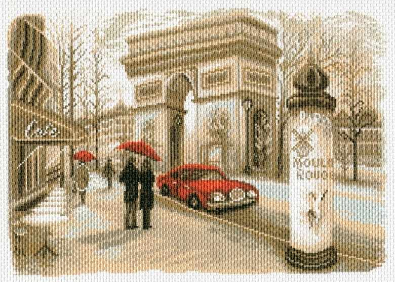 1756 Париж - рисунок на канве (МП)
