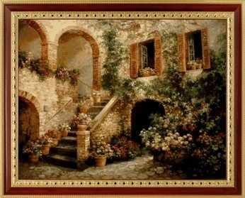 083 Цветочный дворик