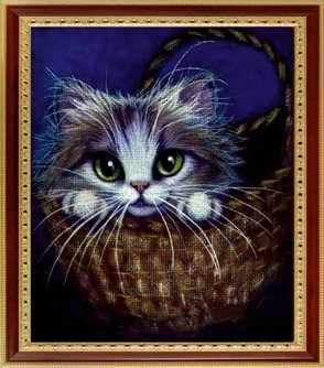 073 Кошка в лукошке