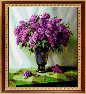 012 Сирень в вазе