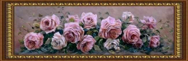 G-035 Розы на розовом