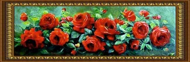 G-036 Розы на зеленом