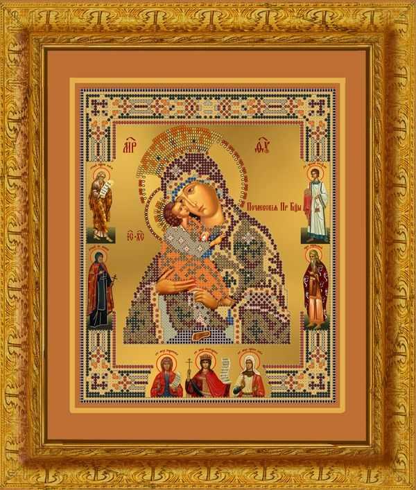 1НИ-020 Почаевская икона Б-цы - набор