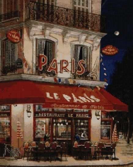 50001 Ресторан Le Paris - мозаика Anya