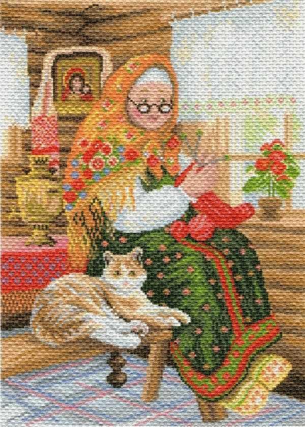 1770 Бабушкина радость - рисунок на канве (МП)