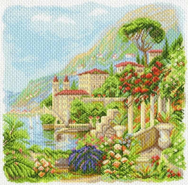 1764 Средиземноморье - рисунок на канве (МП)