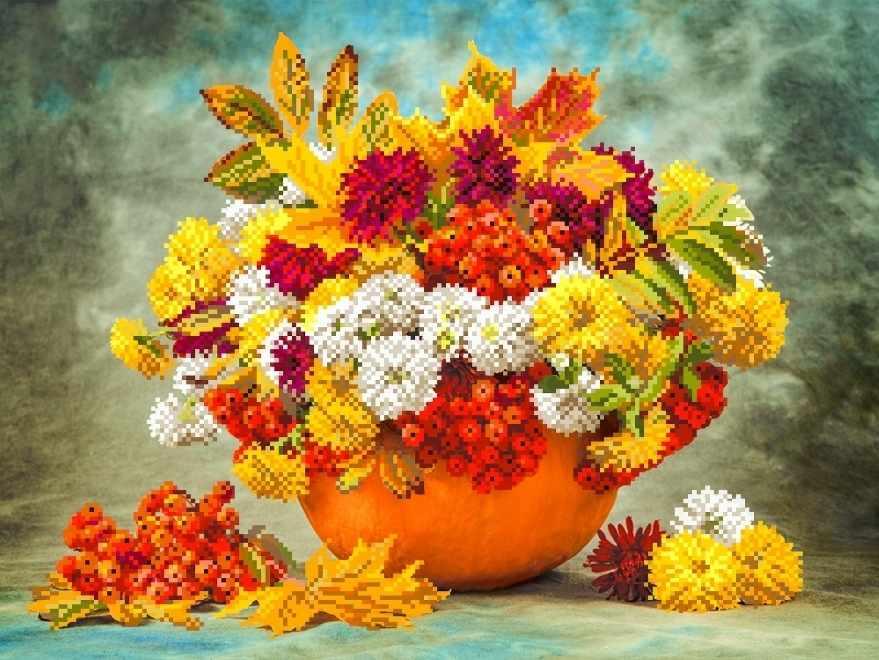 4193 Осенний букет - схема для вышивания (Матрёнин посад)